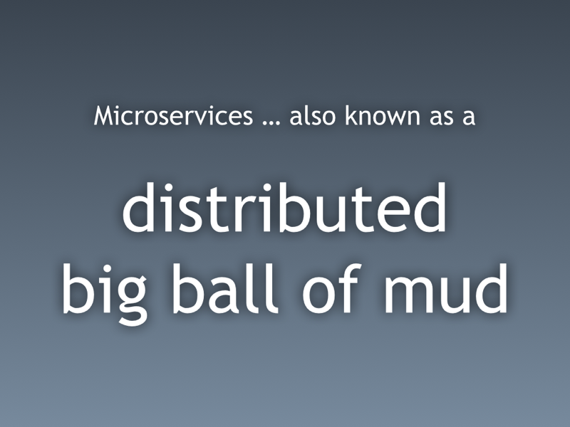 distributed ball of mud